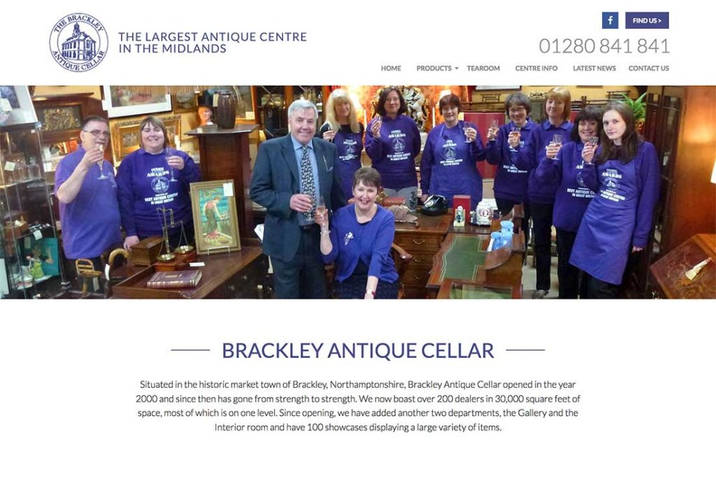 Brackley Antique Cellar Website