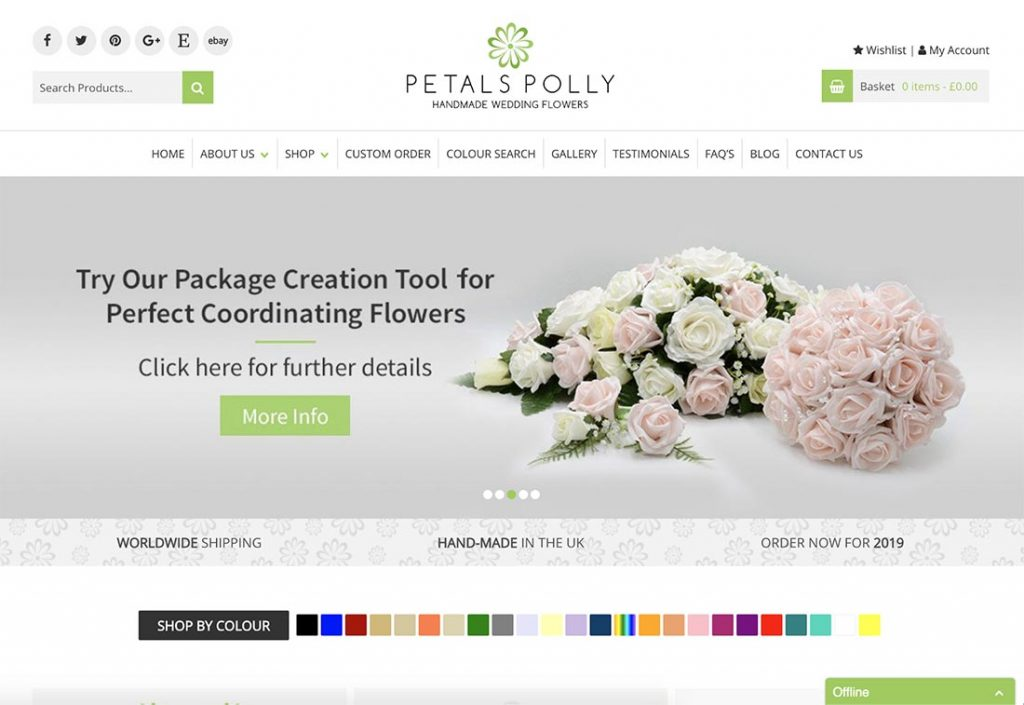 Petals Polly Website