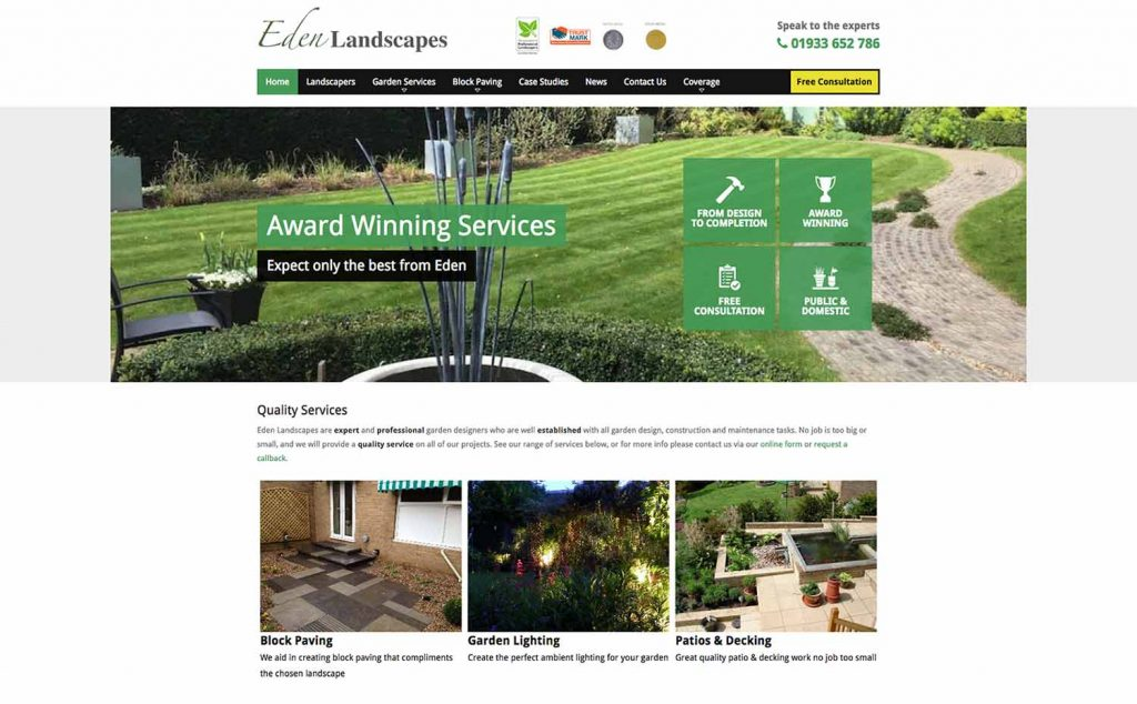 Eden Landscape Website