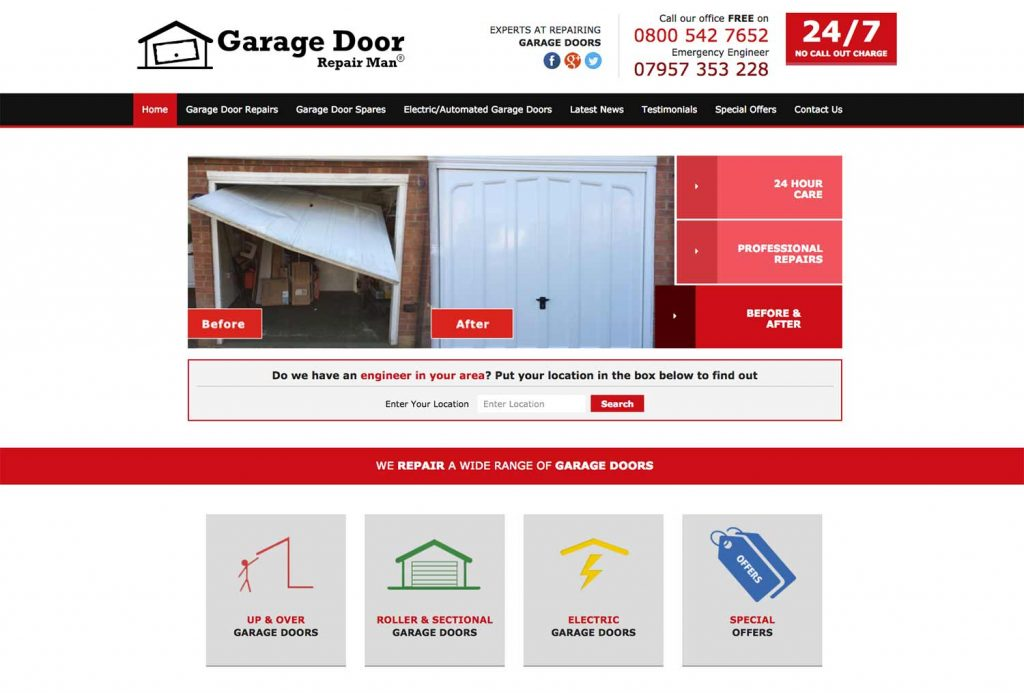 Garage Door Repair Man Website