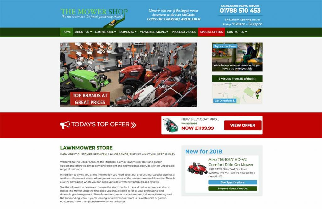 The Mower Shop Website