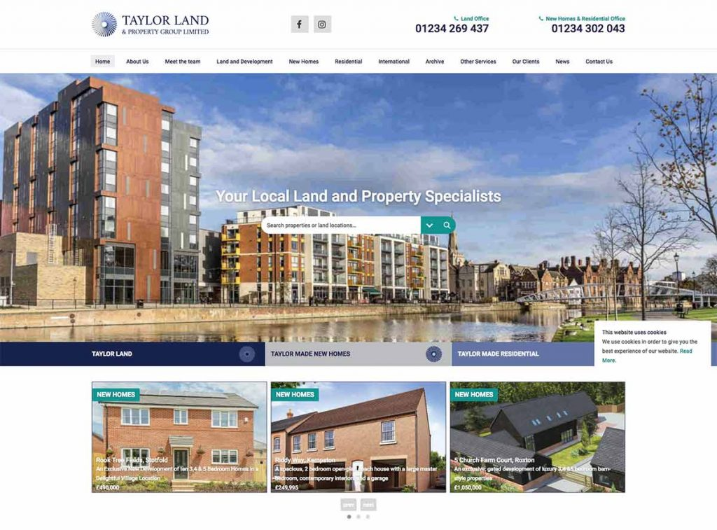 Taylor Land and Property Website