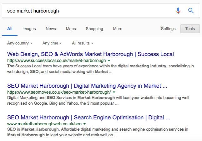 position 1 on Google
