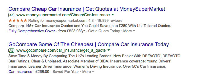 Google Ads Paid Results