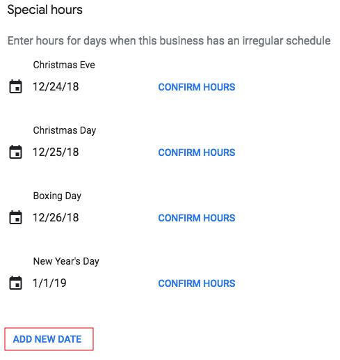 Add New Date