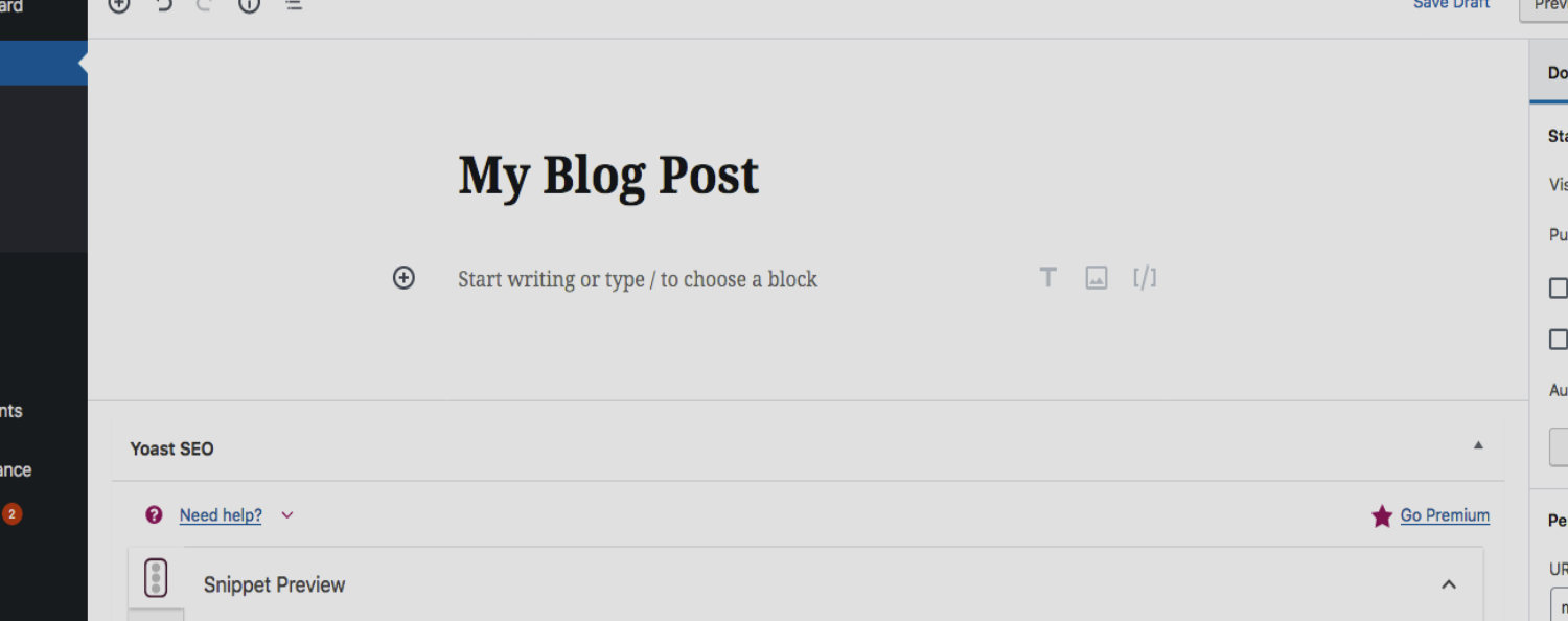 Adding A Blog Post