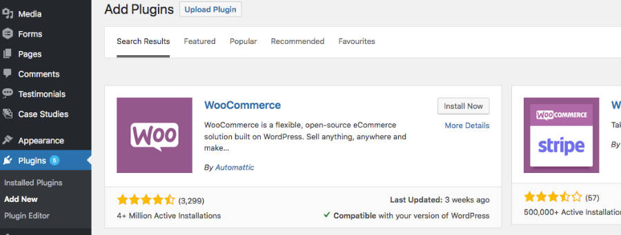 WooCommerce Theme Install