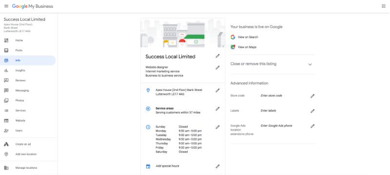 info dashboard