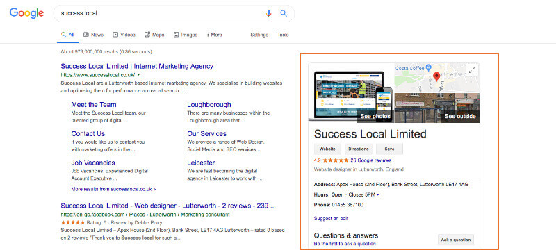 success local search results