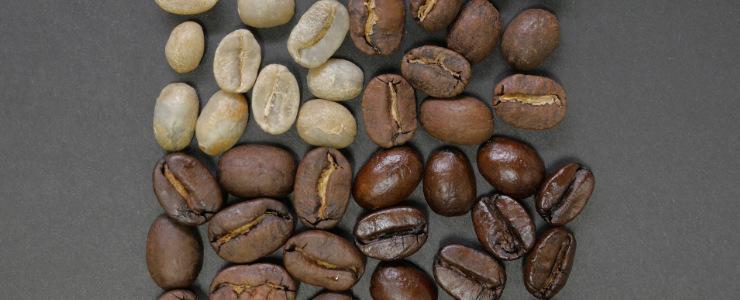 Coffee Beans With Different Colours